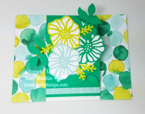 Center Cut Easel Card using the Oh, So Eclectic Bundle, discounted until May 31st, details and a VIDEO on  my blog www.barbstamps.com #stampinup #barbstamps #ohsoeclectic #naturallyeclectic #centercuteaselcard