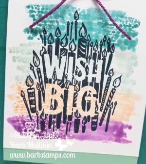 VIDEO tutorial for the Sprtizy Blocks technique along with a cool way to use your Stamparatus!!  www.barbstamps.com for all the details and more pics.  #stampinup #barbstamps #stamparatus #bigwishes #spritzyblocks