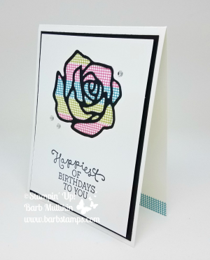 VIDEO - I use washi tape and create four cards in the video and I also show a few other cards in the video.  View it at www.barbstamps.com #stampinup #barbstamps #washitape #facebooklive