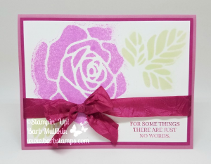 Spritzing with thinlits and the Rose Garden Thinlits, video on my blog www.barbstamps.com #stampinup #barbstajps #rosegarden