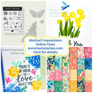 Purchase my Abstract Impressions Online Class www.barbstamps.com 8 exclusive cards for you, they won't be shown anywhere else!