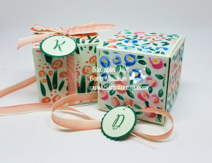 Garden Impressions Gift Boxes using the Love What You Do alphabet set #stampinup #barbstamps #giftbox