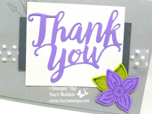 Thank you Thinlit with the Pop of Petals Bundle, get more details on my blog at www.barbstamps.com