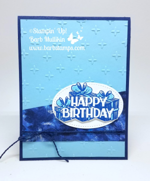 Fun card using the Big Wishes stamp set and the Garden Impressions DSP - buy 3 get 1 free in July www.barbstamps.com #stampinup #barbstamps #bigwishes #gardenimpressions