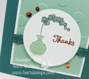 Varied Vases is such a great set, you can do so much with it.  I am offering an Online Class with this bundle for only $20, you can get all the details on my blog www.barbstamps.com #stampinup #variedvases #onlineclass #mintmacaron #tranquiltide