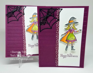 Cauldron Bubble Bundle and Stampin' Blends Markers, what a great combination.  Details on this card are on my blog www.barbstamps.com #cauldronbubble #stampinup #holidaycatalog #halloween