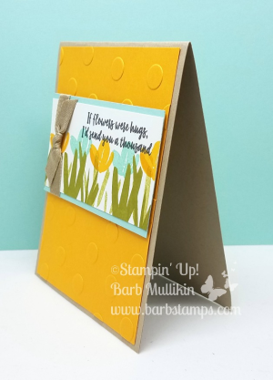 FREE printable project sheet on my blog for this card www.barbstamps.com I am loving this brand new color called Mango Melody!!