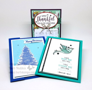 These project is part of a Facebook Live I did recently, check out the video on my blog www.barbstamps.com #stampinup #barbstamps #facebooklive #winterwoods #countryhome #fauxcoloredglimmerpaper