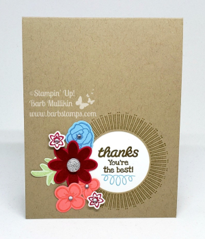 Video for this card on my blog, it uses the Bouquet Blooms Bundle. #barbstamps #stampinup #bouquetblooms
