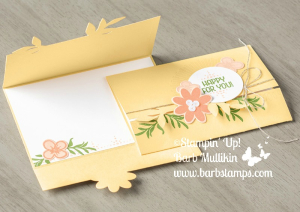 Super cute Gatefold card created with the Bouquet Blooms Bundle www.barbstamps.com  #barbstamps #stampinup #bouquetblooms