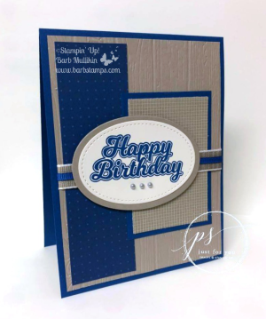 Manly birthday card on my blog www.barbstamps.com measurements and instructions on my blog $blowoutthecandles #staminup
