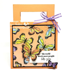 VIDEO on my blog for this Suitcase/briefcase gift card holder www.barbstamps.com Uses the Botanical butterfly DSP that you can earn free with a $50 order placed in my store.  Join my team for only $99 and receive $175 in your Starter Kit-all details on my blog #giftcardholder #botanicalbutterfly #saleabration #barbstamps