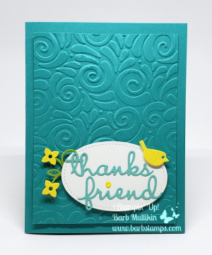VIDEO on my blog for this card that uses the Well Said Bundle www.barbstamps.com #bermudabay #wellsaid #stampinup #barbstamps