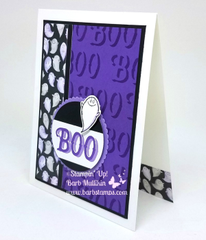 Video on my blog for this awesome Treat Cone www.barbstamps.com Project uses the Cauldron Bubble Bundle along with our two new colors or purple! #stampinup #treatcone #cauldronbubble