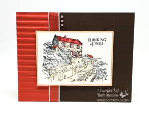 By the Bay Sale-a-bration set, join my team for only $99 and get $175 in your kit. Video on  my blog for this card www.barbstamps.com
