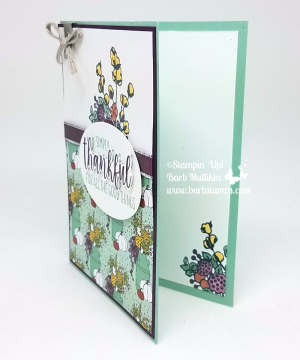 Video on my blog for this awesome card!  Lots of tips and tricks and using the Stampin' Blends to color our Metallic Edge Ribbon any color you want.