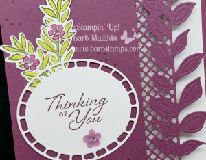 VIDEO on my blog using the edgelit on your card front www.barbstamps.com  #stampinup #barbstamps #onlineclass #facebooklive #wonderfulromance