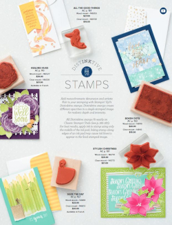 DistINKtive stamps flyer photo