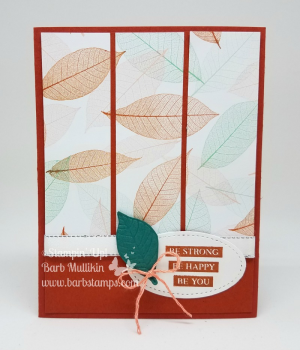 I have an Online Class featuring the Rooted in Nature Bundle, purchase it for only $20 on my blog www.barbstamps.com #stampinup #onlineclass #barbstamps #rootedinnature