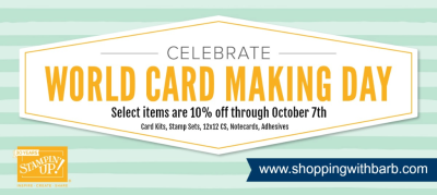 10% off select products through October 7th, www.shoppingwithbarb.com