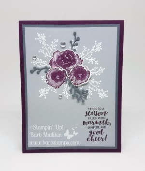 Video on my blog for 18 cards using the First Frost Bundle www.barbstamps.com #stampinup #firstfrost #frosted boutique