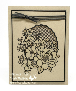 VIDEO for this card that uses Wink of Stella to color the flowers. www.barbstamps.com #lovelylattice #stampinup #barbstamps