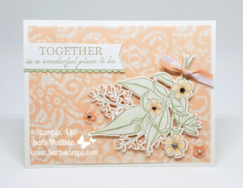 Information for my Wonderful Romance Online Class are on my blog www.barbstamps.com along with a FREE video tutorial for this amazing card! #stampinup #wonderfulromance #saleabration