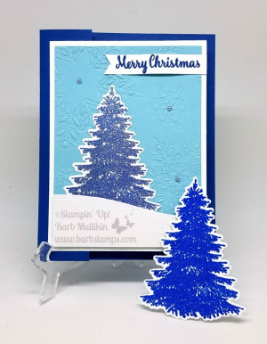 This project is part of a Facebook Live I did recently, check out the video on my blog www.barbstamps.com #stampinup #barbstamps #facebooklive #winterwoods #countryhome #fauxcoloredglimmerpaper