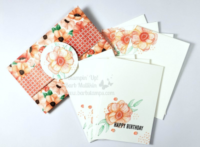VIDEO on my blog for this set of Note Cards and Envelopes that use the Painted Seasons Bundle.  You can earn this bundle FREE with a $100 order in my store www.barbstamps.com #stampinup #paintedseasons #fourseasons #saleabration #bloghop #barbstamps