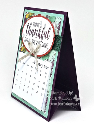 Country home calendar side
