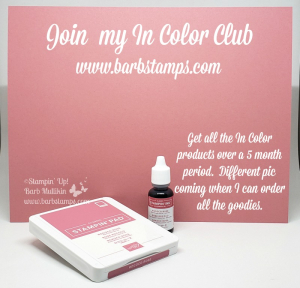Join the In Color Club www.barbstamps.com