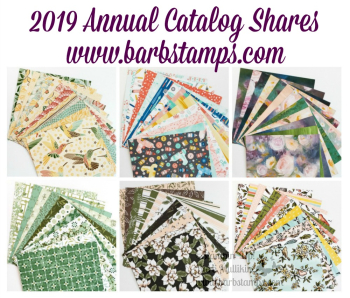 Get your 2019 Stampin' Up! product shares www.barbstamps.com