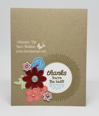VIDEO for this card on my blog, Join my team for only $99 www.barbstamps.com