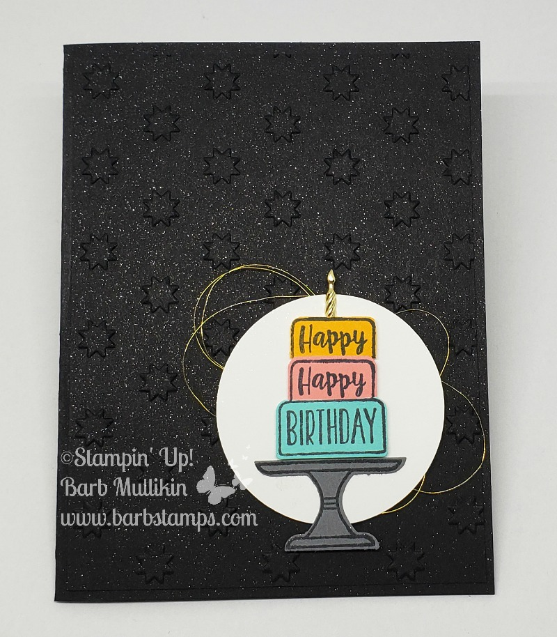 Piece of cake black card