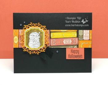 Adorable card with the Spooktacular Bash Suite www.barbstamps.com