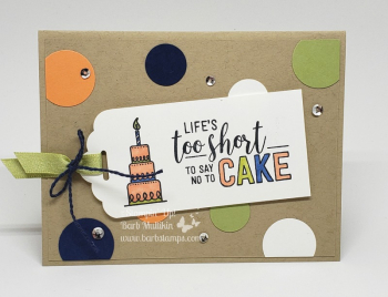VIDEO for this card on my blog www.barbstamps.com Amazing Life stamp set with Stampin' Blends