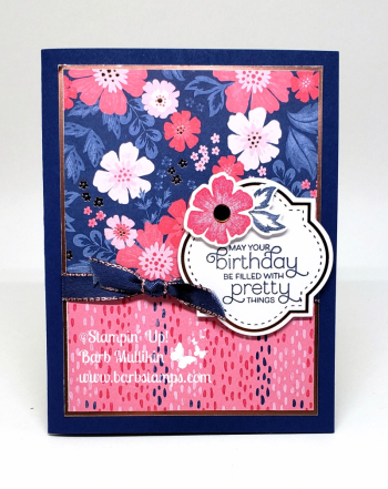 VIDEO for this card on my blog www.barbstamps.com #everythingisrosy Everything is Rosy Medley