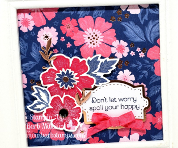 Gorgeous framed piece using the Everything is Rosy Product Medley www.barbstamps.com