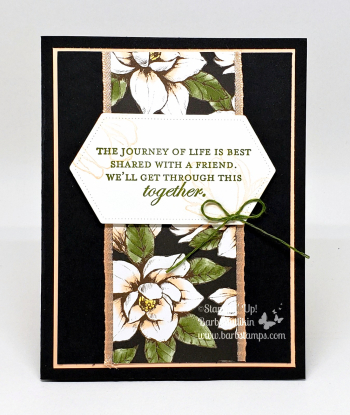 Good Morning Magnolia gift box with four coordinating cards #stampinup #barbstamps #goodmorningmagnolia #magnolialane #giftset