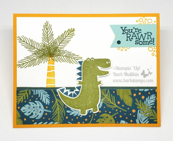 I have an online class for the Dino Days Bundle www.barbstamps.com