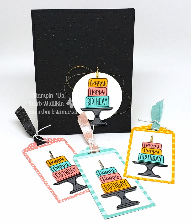 Piece of cake tag card set