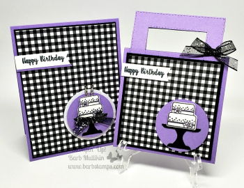 VIDEO showing multiple cards for the Piece of Cake Bundle is on my blog www.barbstamps.com