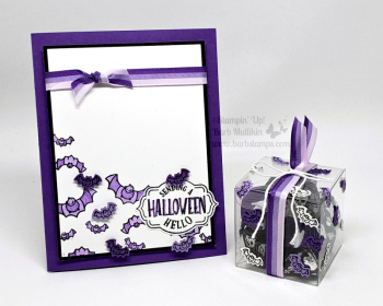 To every season card and treat box www.barbstamps.com #stampinup #halloweencrafts #halloween #toeveryseason #tagstagstagsbundle