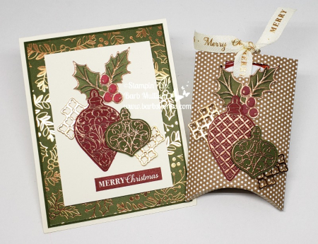 Video for both of these projects are on my blog www.barbstamps.com #stampinup #christmasgleaming #christmascard