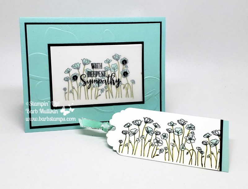Painted poppies card bookmark