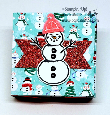 Let it Snow Drawer Card video on my blog www.barbstamps.com #stampinup #letitsnow #drawercard #christmascrafts