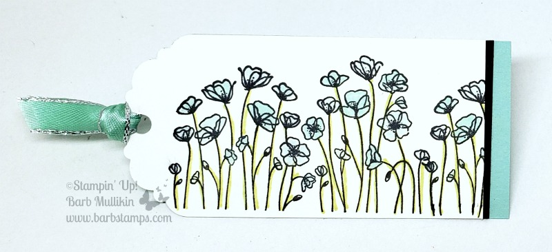 Painted poppies bookmark