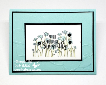 Video for this card on my blog www.barbstamps.com #stampinup #barbstamps #paintedppoppies #peacefulmoments