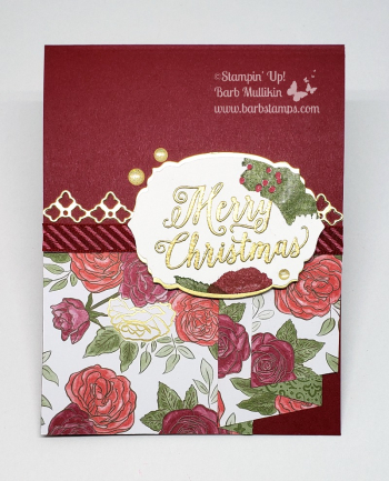 Christmastime is Here Drapery fold video on my blog www.barbstamps.com