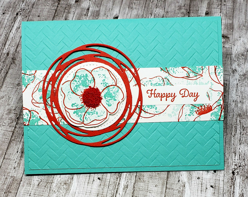 Painted poppies fuzzy center cabana card